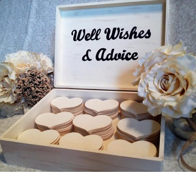 Customized Large Wedding Guest Book Box Alternative Shabby