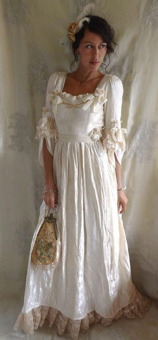 Rococo Fairy Tale Wedding Gown... Size S/M... Women Dress Whimsical ...