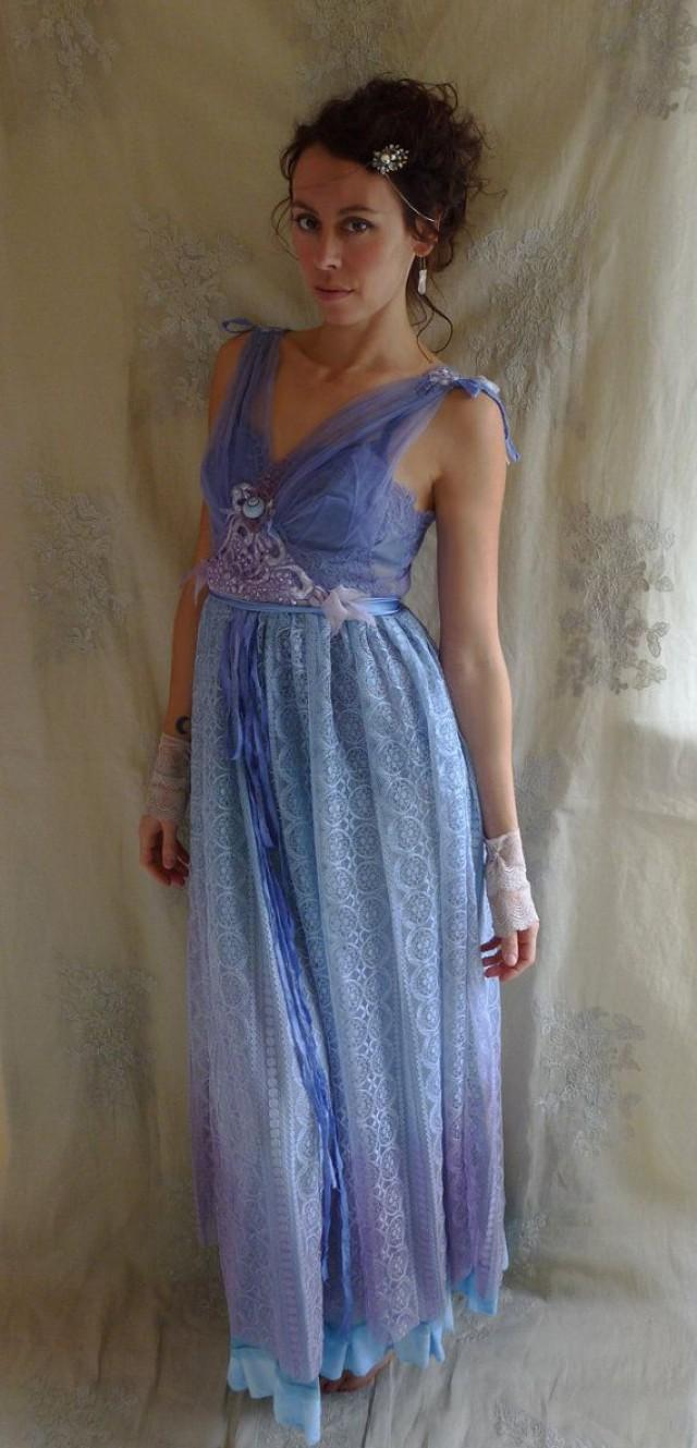 RESERVED Lupin Faery Gown... Size Medium... Fairy Pixie Wedding ...