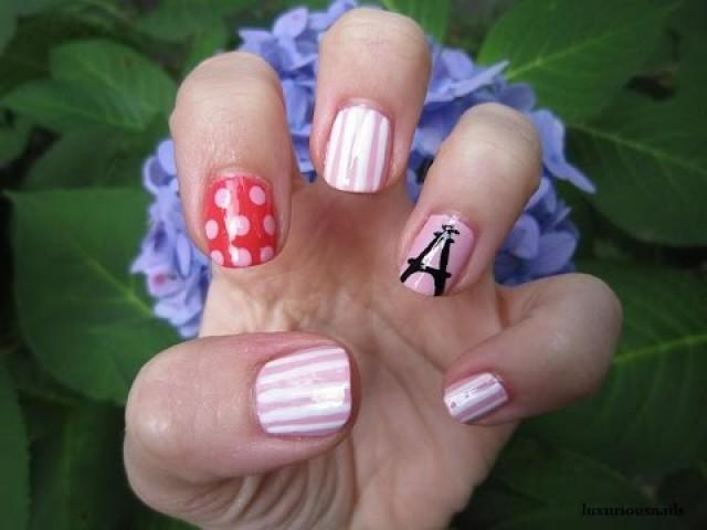 Paris Honeymoon Abstract Paris Theme Nail Art Tutorial 2171506
