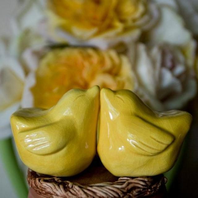 Cake Topper - Yellow Love Bird Wedding Cake Topper #2172580 - Weddbook