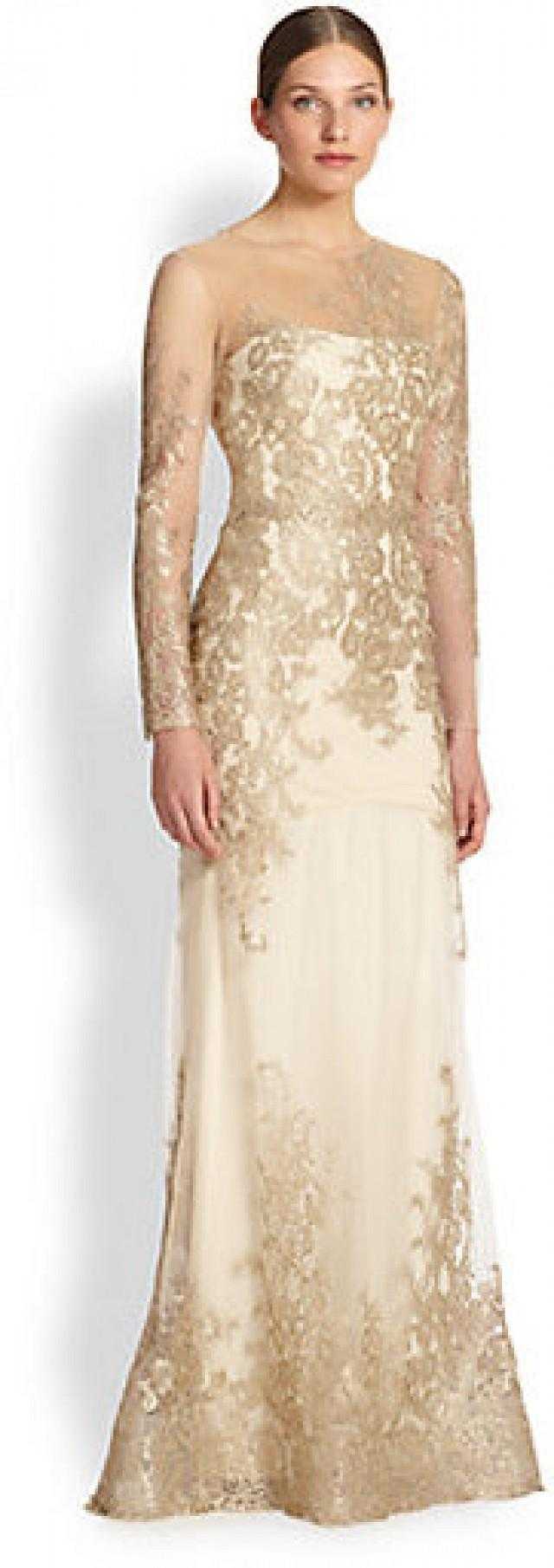 Notte By Marchesa Floral & Lace Mermaid Gown #2172948 - Weddbook