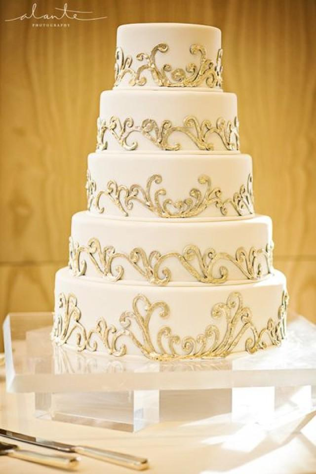 Gold Wedding - White & Gold Wedding Cakes #2173048 - Weddbook