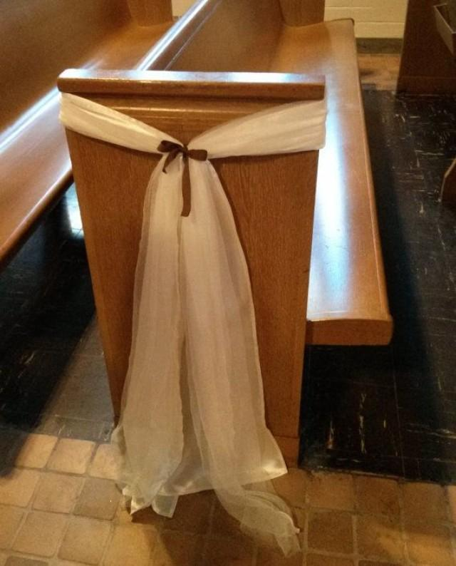 Price Reduced W Free Shipping Ivory Satin Sashes For Wedding Pew