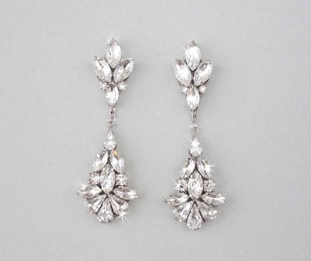 Wedding Earrings Chandelier Bridal Vintage Crystal Dangle Teardrop Jewelry 2175120 Weddbook
