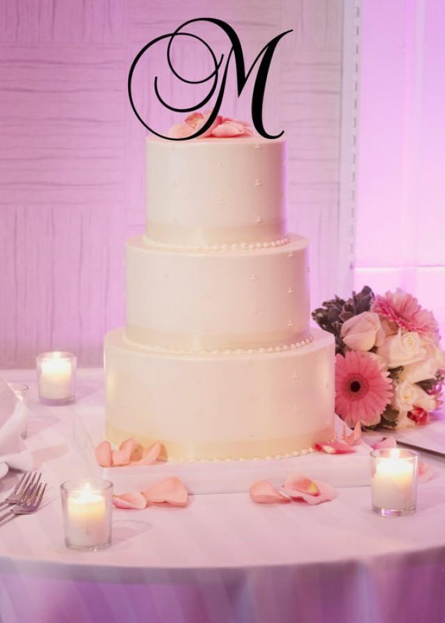 6 Tall Acrylic Monogram Initial Wedding Cake Topper Any Letter A B C D E F G H I J K L M N O P