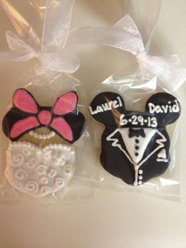 Mickey And Minnie Mouse Wedding Cookie Favors 2180810 Weddbook
