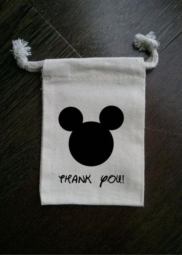 Mickey Mouse Inspired Muslin Party Favor Bag 2180828