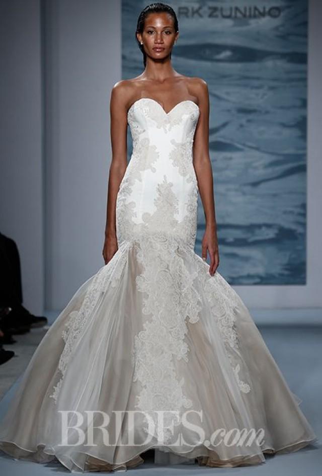 Mark zunino for kleinfeld wedding dresses fall 2015 bridal for Kleinfeld wedding dress designers