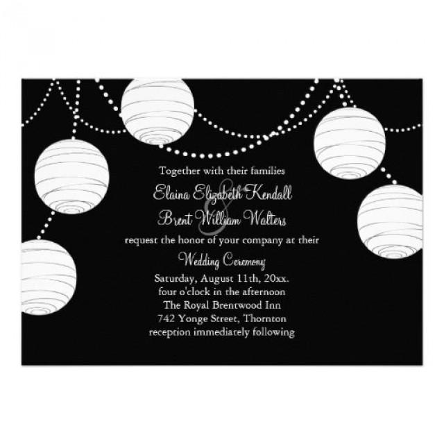A Black White Party Lanterns Wedding Invitation 2184342 Weddbook