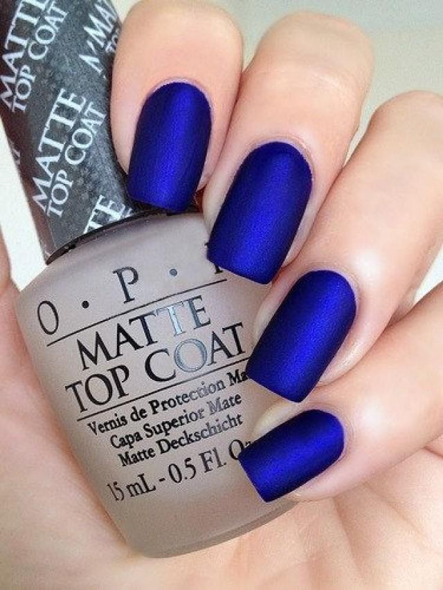 OPI Royal Blue Matte Manicure ~ OPI Blue My Mind, Opi Matte Top Coat ...