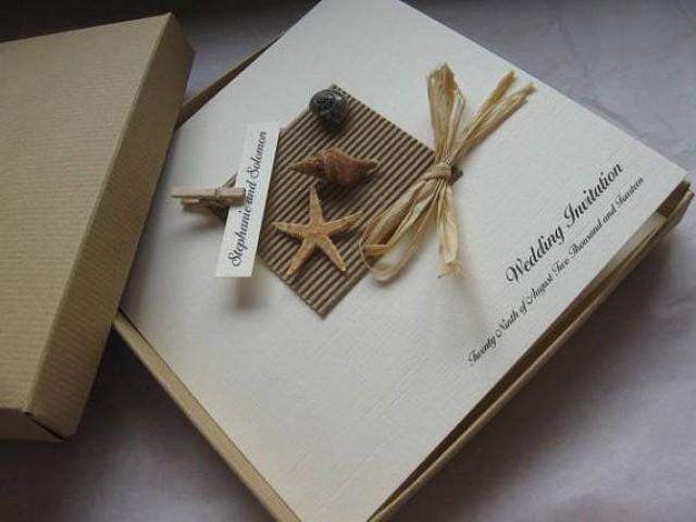 Luxury Starfish U0026 Shell Wedding Invitation   Boxed   Beach Themed Weddings  #2191965   Weddbook