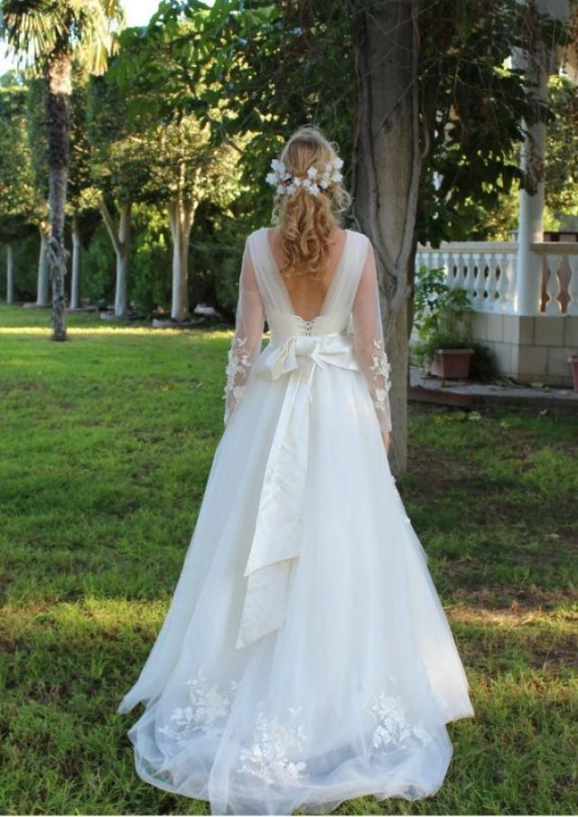 Bohemian Wedding Dress Flower Wedding Drwess Fairy Gown Romantic And ...