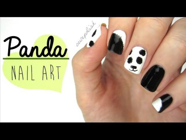 Wedding Nail Designs Nail Art Fuzzy Panda Nails 2193139 Weddbook