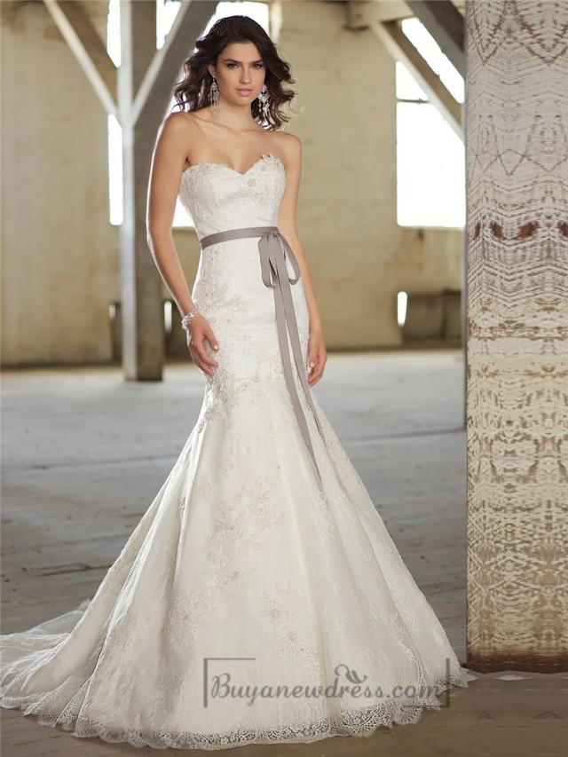 Fit And Flare Sweetheart Lace Appliques Wedding Dresses #2197919 ...