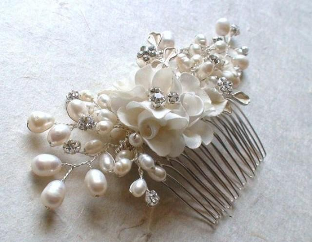Wedding Hair Accessories Flower Comb Pearl Piece 2205453 Weddbook