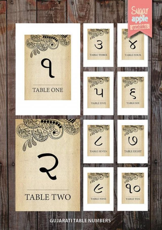 Awe Inspiring Printable Table Numbering Indian Weddings Vintage Theme Download Free Architecture Designs Rallybritishbridgeorg