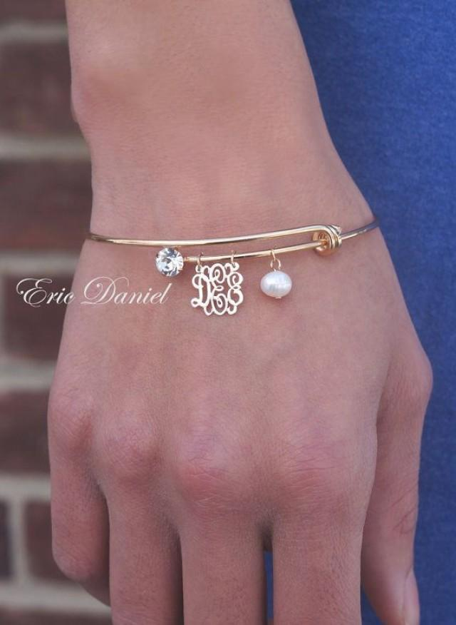 Personalized Monogram Bangle Alex And Ani Inspired Choose