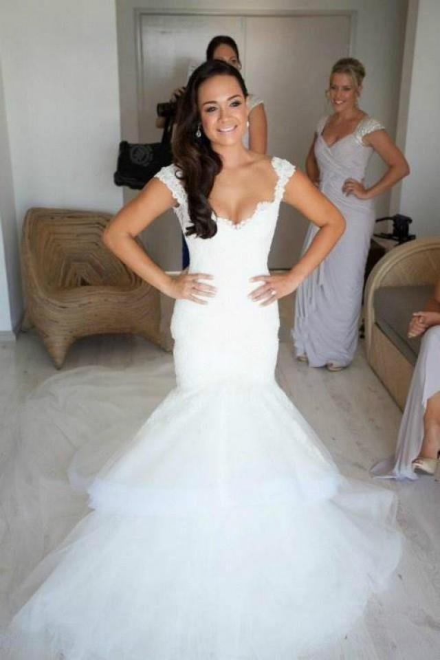 Lace Mermaid Wedding Dresses with Bling
