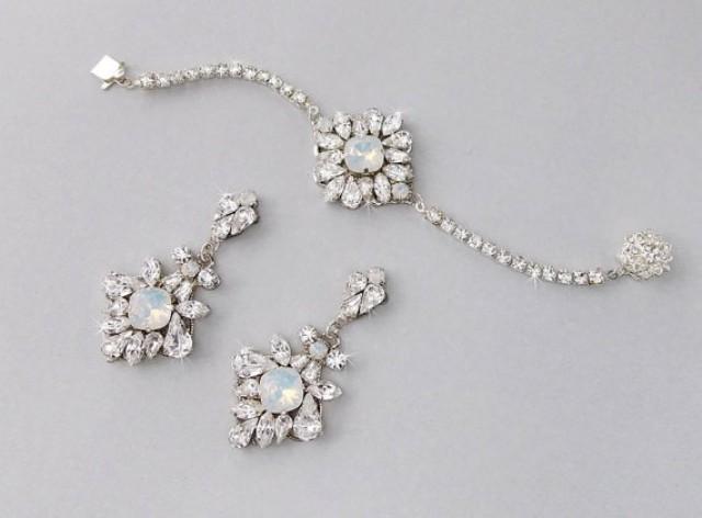 Wedding Jewelry Set Bracelet Bridal Earrings Opal June 2209184 Weddbook