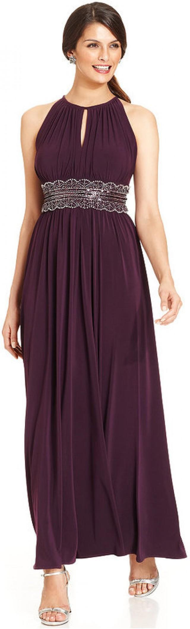 R&M Richards Petite Sleeveless Beaded Gown #2210191 - Weddbook