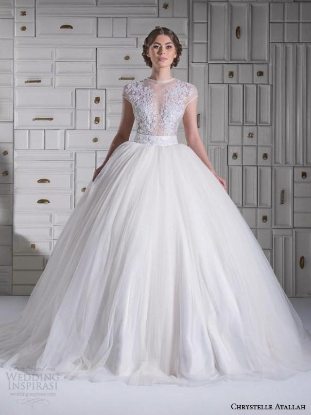 Discount 2015 new arrival chrystelle atallah applique for Wedding dress discount warehouse