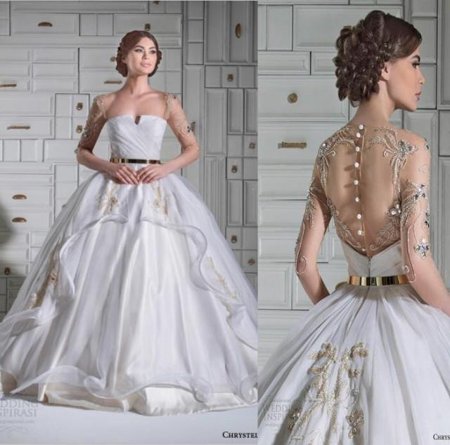 Cheap new arrival discount 2015 new chrystelle atallah for Wedding dress discount warehouse