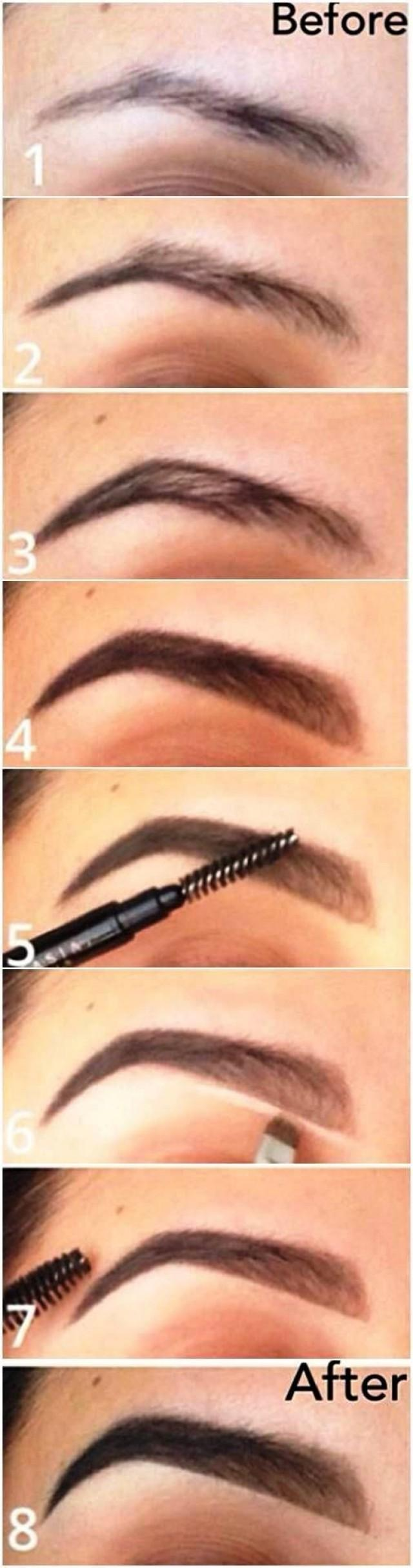 Tutorial How To Make Your Eyebrows Thicker With Makeup 2212338