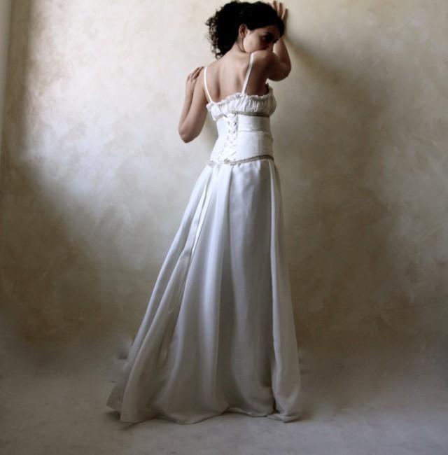 Medieval Wedding Dress Bridal Gown Silk Wedding Dress Plus Size