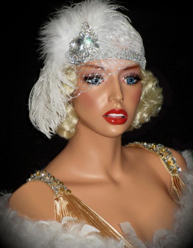 Old Hollywood 20 S Bridal Hat Juliet Flapper Cap Lace
