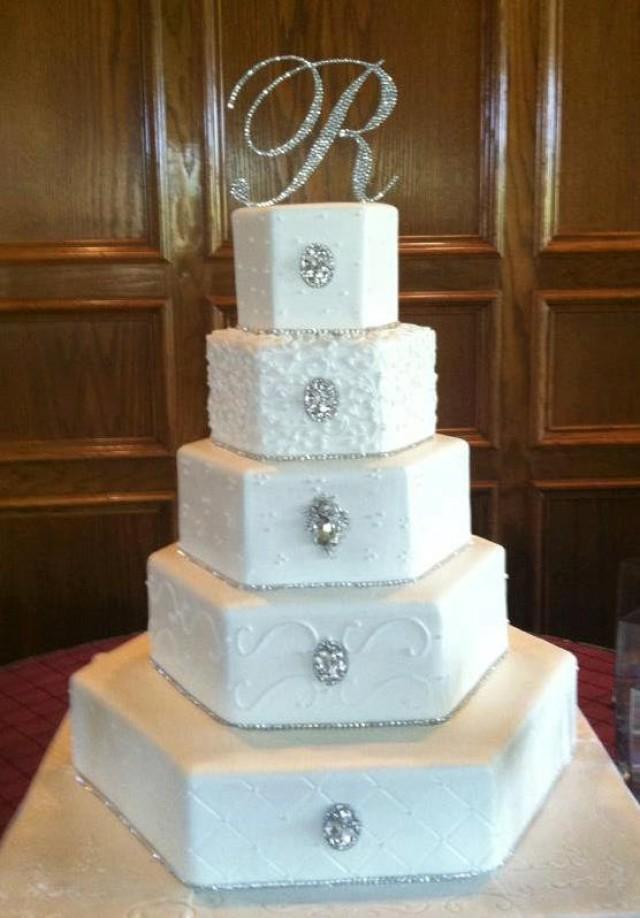monogram wedding cake topper crystal initial any letter a b c d e f g h i j k l m n o p q r s t