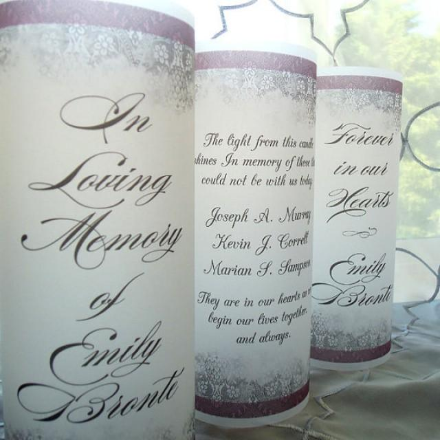 Memorial Vellum Luminary Candle Surrounds In Memory Forever In