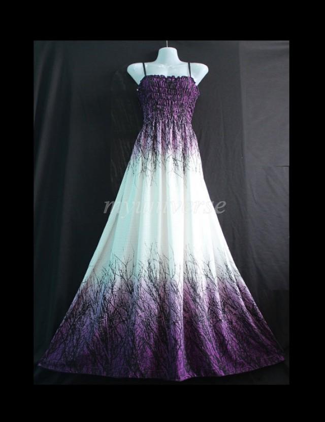 Maxi Dress Purple Bridesmaid Dress Women Plus Size Prom Long Evening ...