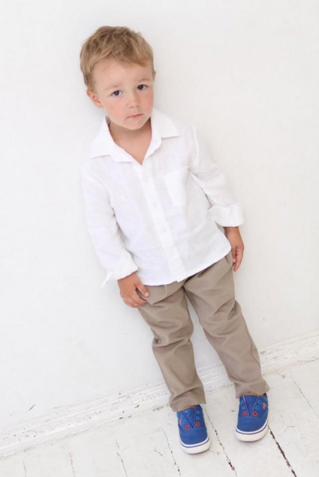 Baby Boy Dress Shirt Wedding Party 1st Birthday Baptism ...