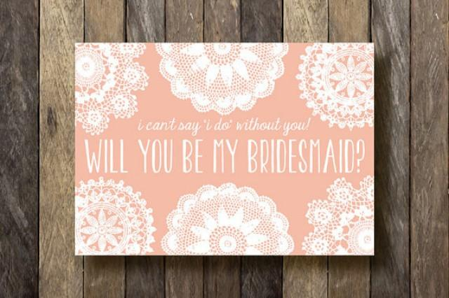 Bridesmaid Proposal Cards Instant Download Printable