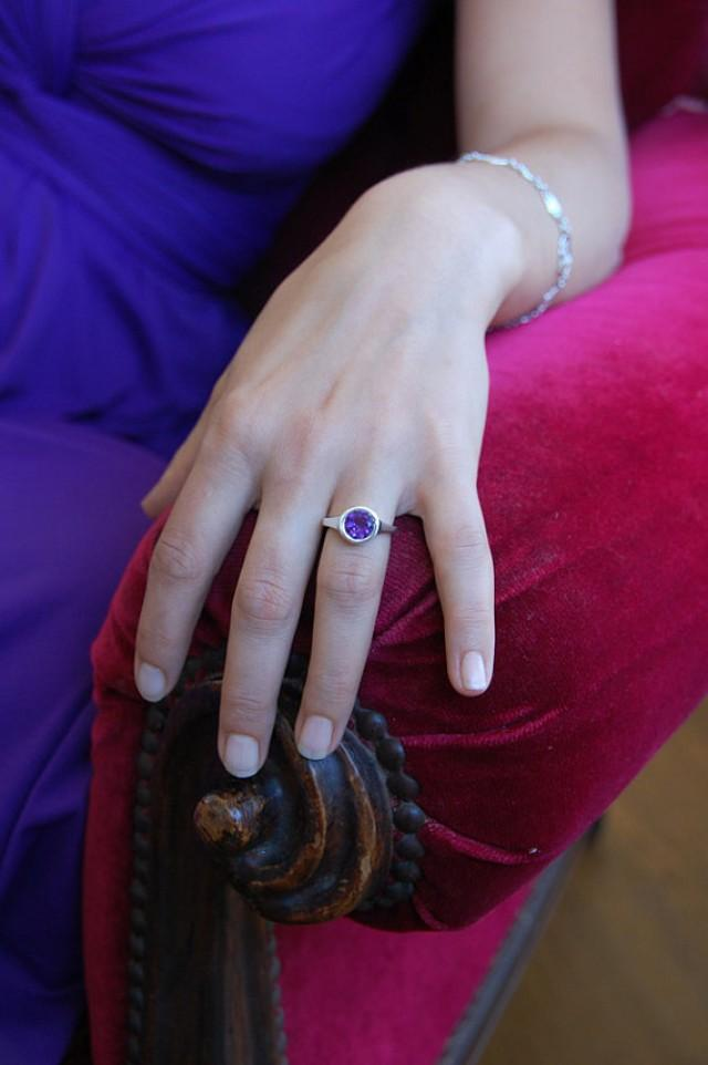 Toll Amethyst Ring , VALENTINEu0027S DAY SALE , Large Amethyst Ring , Promise Ring ,  Engagement Ring , Solitaire Ring #2215519   Weddbook