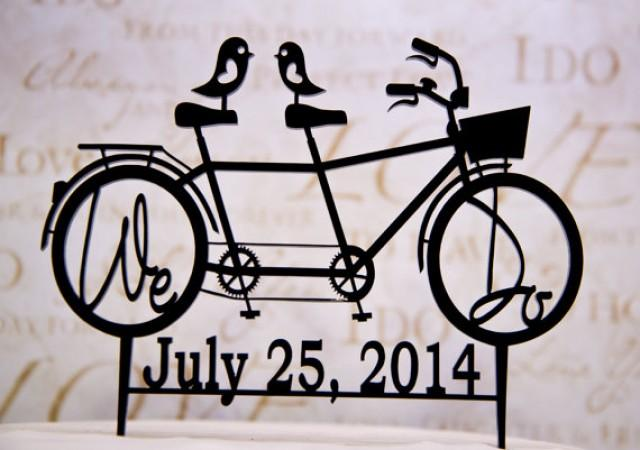 Wedding Cake Topper Bicycle For Two With We Do In The Wheels And Your Date 2215520 Weddbook