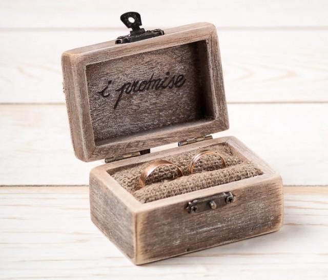 Ring bearer box wedding ring box rustic wedding ring for Unique ring boxes
