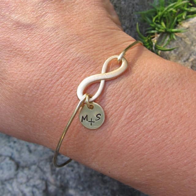 Personalized Valentine Gift, Infinity Symbol Jewelry, Personalized ...