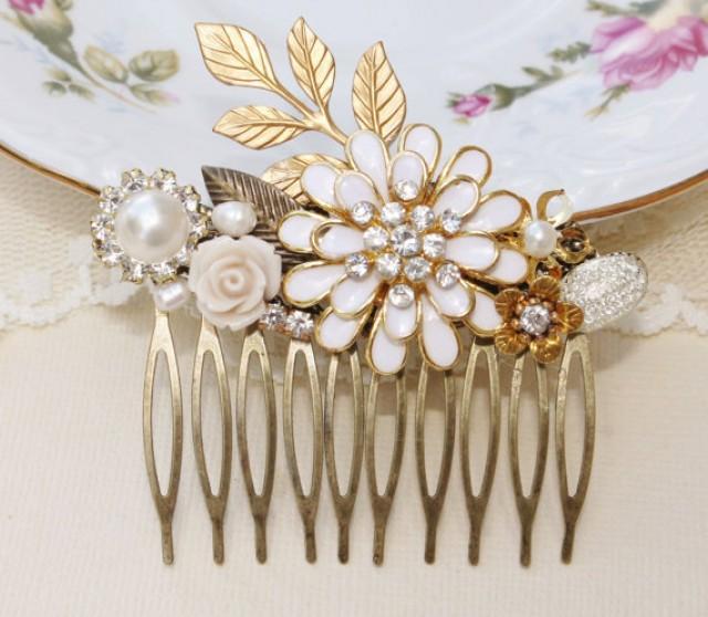 Eternal love vintage assemblage hair comb repurposed - Vintage and chic love ...