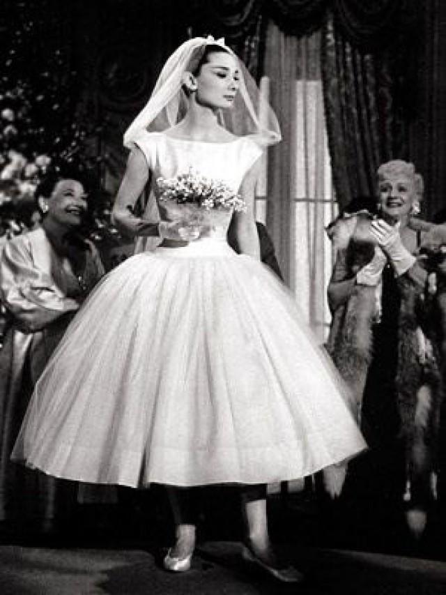 Audrey Hepburn Wedding Dress Funny Face Ivory Cream Short Wedding