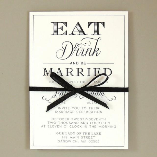Kate Suite Eat Drink Be Married Wedding Invitation Elegant
