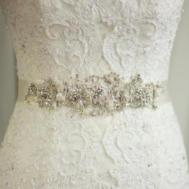 Wedding Sash Lace Belt Rhinestone Sash Wedding Dress Belt