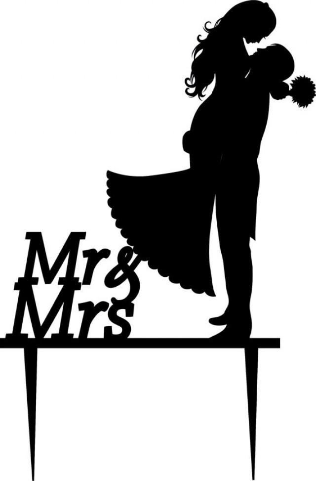 Wedding Cake Topper Silhouette Groom And Bride Acrylic 2218869