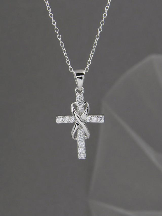 product sterling catholic silver image deal infinity crucifix cross necklace products