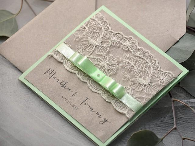eco lace wedding invitation pocket fold invitations weddbook
