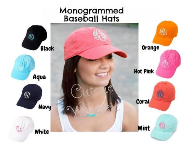 adult monogrammed cap baseball hat bridesmaid gift teacher sorority baby diy monogram cheap