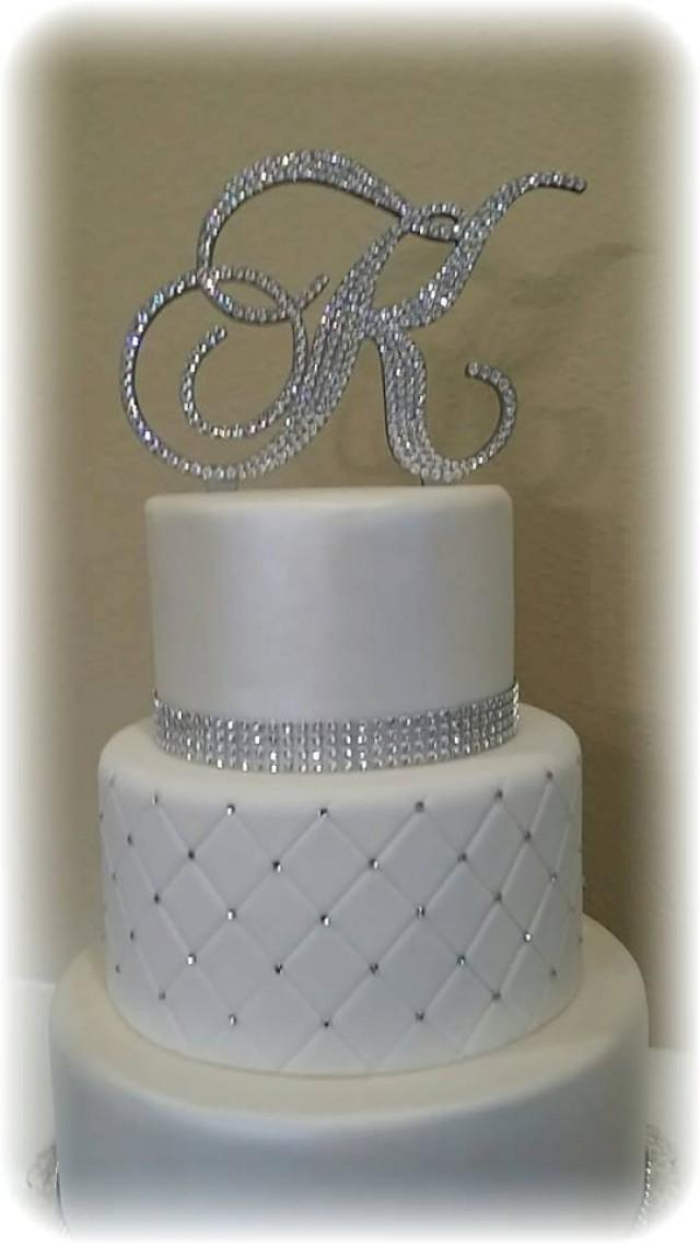 Wedding Cake Topper Letter D