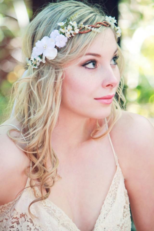 Floral head wreath wedding