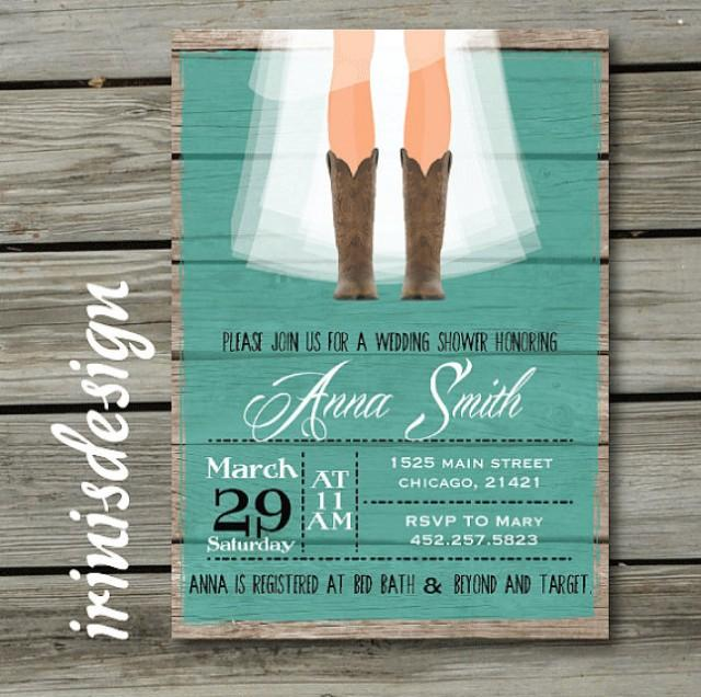 Rustic Bridal Shower Hoedown Wedding Invitation #2222459